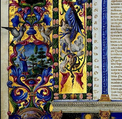 006-005-Bibbia di Borso d'Este-Vol 1- Hoja 12 detalle- Biblioteca Estense de Módena