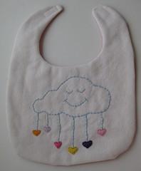 Cloud/rain bib-