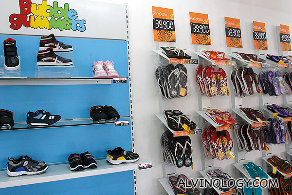 Kids' shoes and flip flops