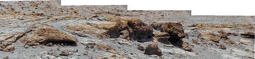 Curiosity sol 300 detail - false color