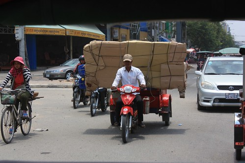 motorbikes haul everything in Asia