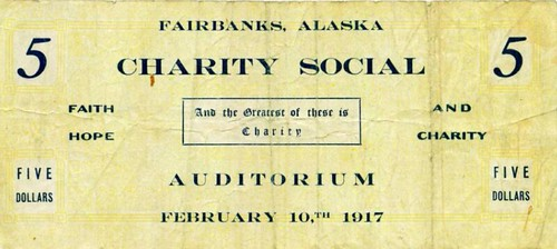 1917 Fairbanks Charity Social note