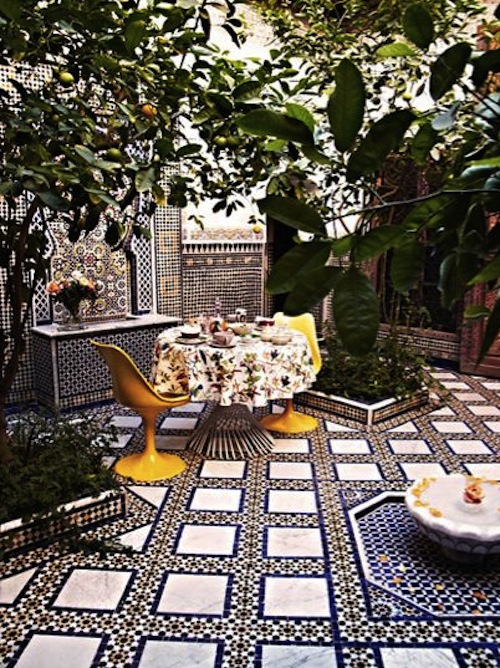 Stunning Moroccan Courtyards