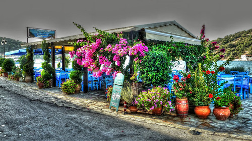 Colorful Tavern, Meganisi, Lefkada, Greece
