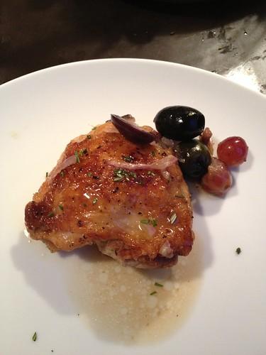 Smitten Kitchen's Harvest Roast Chicken w/Grapes, Olives ...