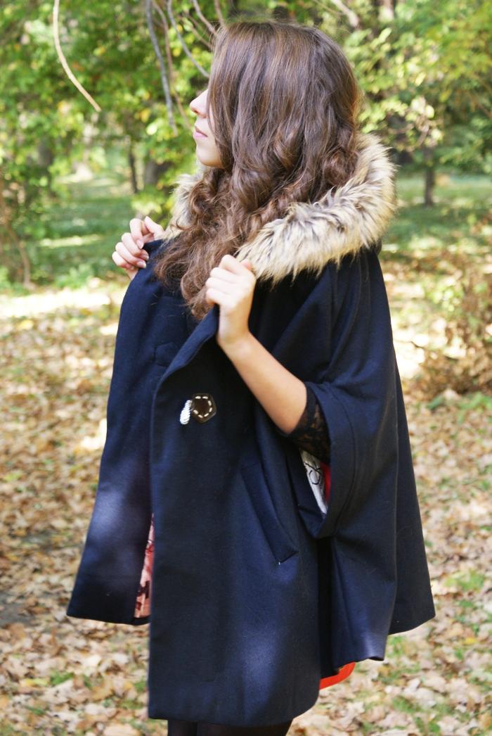 jesienna peleryna