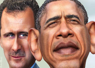 Bashar Hafez al-Assad and Barack Obama