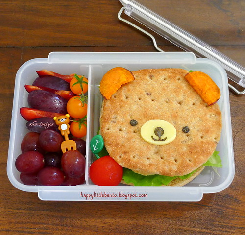 Bear Burger Bento by sherimiya ♥