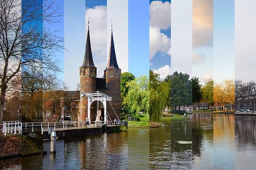 urban monument nature netherlands landscape canal nikon year delft nikkor d90 easterngate 18105vr
