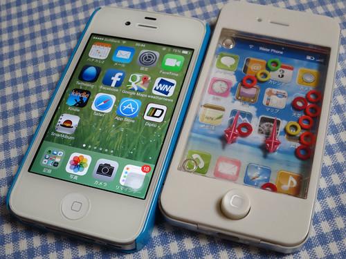 100円ショップのiPhone
