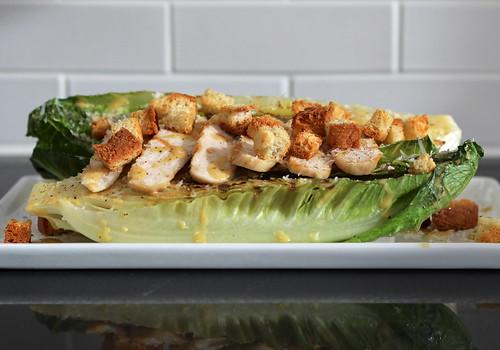 grilled garlic confit caesar salad (gluten-free)