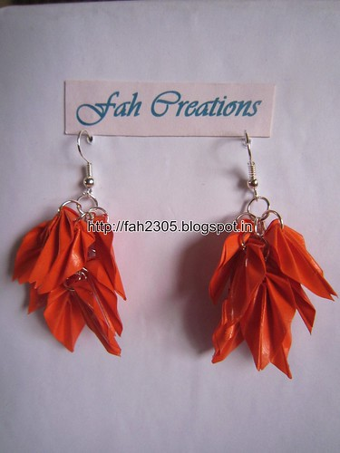Handmade Jewelry - Origami Paper Leaves Earrings (20) by fah2305