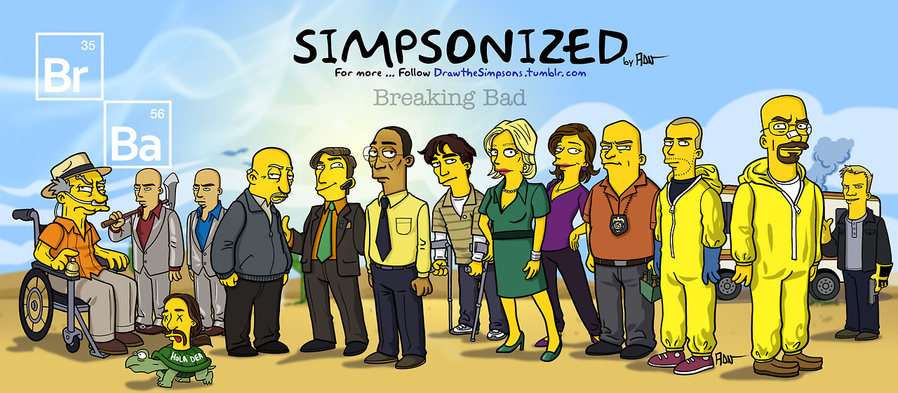 The Breaking Bad cast 'Simpsonized'.