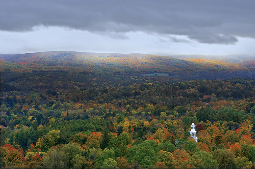 autumn red cloud mountain green fall monument sunshine rain fog forest leaf maple nikon war vermont battle revolutionary vt bennington d700