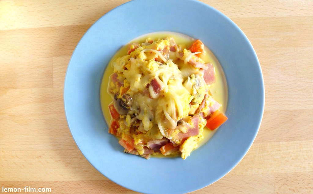 Cheesy Scrambled Egg Omelette