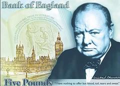 Churchill banknote design