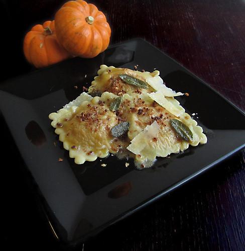 Pumpkin Amaretti Ravioli