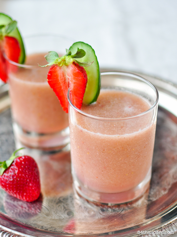 Strawberry Cucumber Coconut Slushy