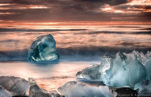sea sky ice beach clouds sunrise blacksand iceland nikon jökulsárlón d3x nikonphotography breiðamerkursandur kristinnr