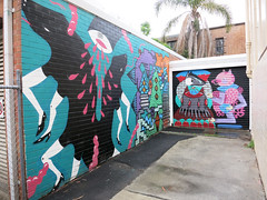 Newtown Mural with Jumbo, Zap and Bafcat