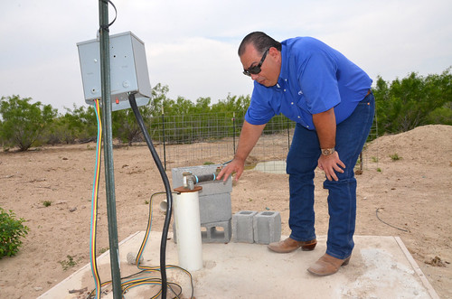 Jorge Espinoza of Laredo, Texas recently qualified for financial assistance to install a solar pump on an existing well through the USDA's StrikeForce for Rural Growth and Opportunity. USDA Photo.