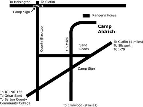 Map to Camp Aldrich