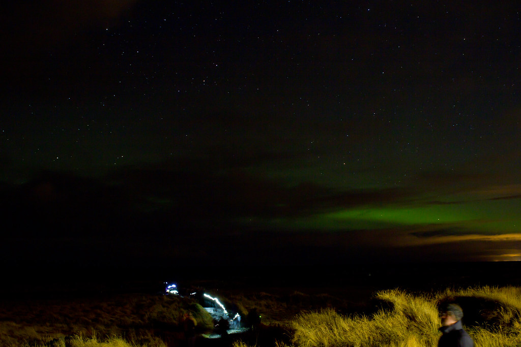 Thursday, October 24: Our second attempt to see the Northern Lights (we tried on the 21st with no luck). This was as good as it got for us unfortunately.