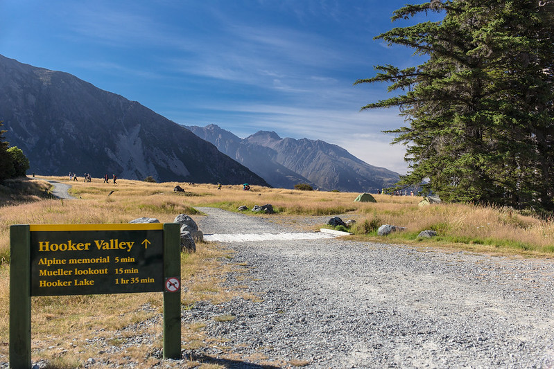 Starting Point for Walks up the Hooker Valley