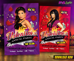 Hot Valentines Day Party Flyer Template