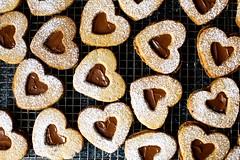 Chocolate Hazelnut Linzer Hearts