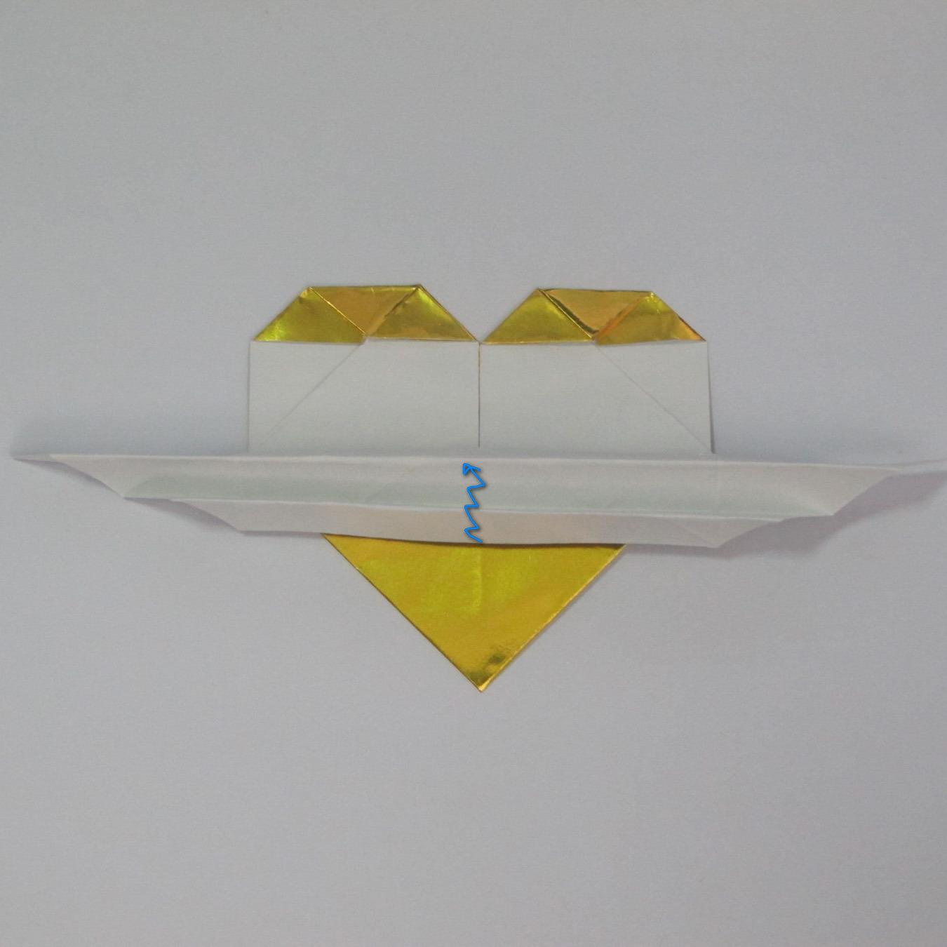 วิธีพับกระดาษเป็นรูปหัวใจติดปีก (Heart Wing Origami) 023