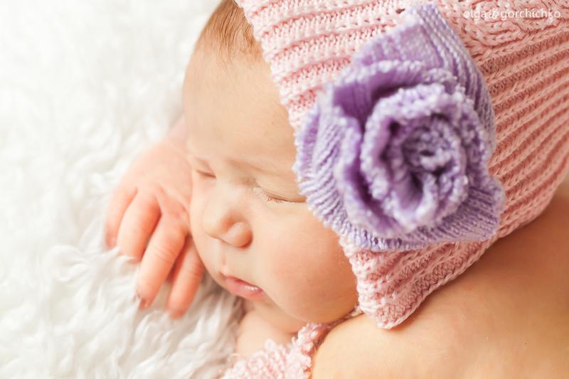 Newborn baby Yulia