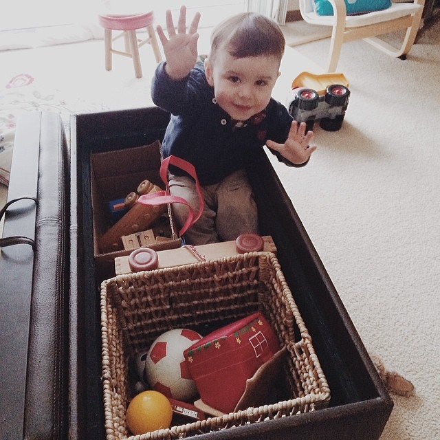 """Hey, hey. Welcome to my party box."" #instaluther #toddler"