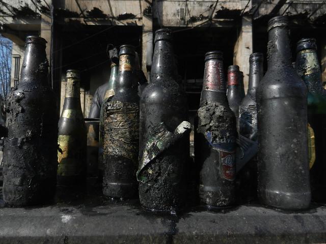 Прошедшие войну бутылки