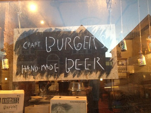 Craft burgers, hand made beer (best sign I've seen in ages)
