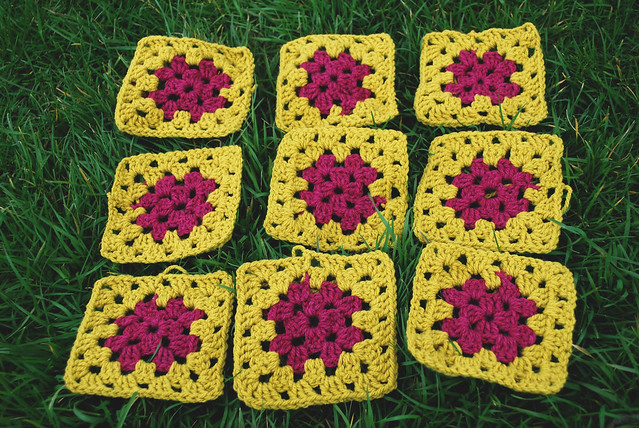 retro granny square designs