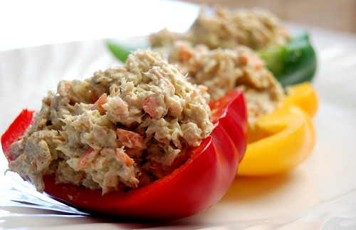 Chicken Salad Pepper Cups :: Allergen Free Options