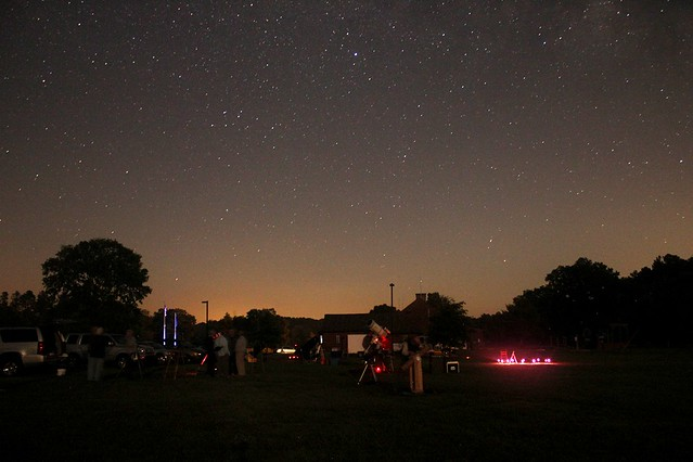 Having fun at Staunton River Star Party, in this photo by star party participant Steve Andrews
