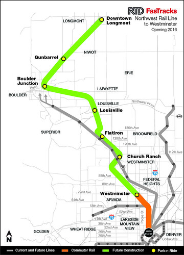 2014 Map of Northwest Rail Westminster Segment