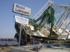 Boat wreck in the wake of Hurricane Katrina