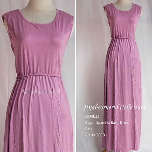 basic dress hijabers rayon spandex
