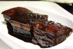 Authentic chinese slow braised pork belly