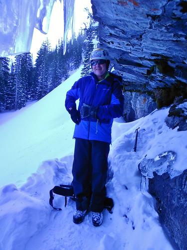 Rick at Loch Vale - Ready to Ice Climb