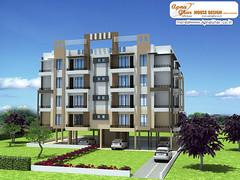 Luxury apartment exterior 3d exterior view of an apartment design