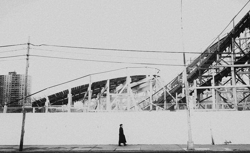 Stuck in the Middle | Coney Island Cyclone during Winter