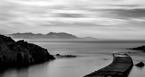 arran from dunure beach, scotland(mono) (1 of 1)