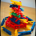 Stacks - clothespins