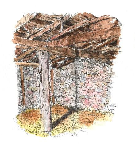 Interior de la tenada núm.: 7 en Contreras (Burgos)
