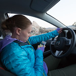 Emily driving