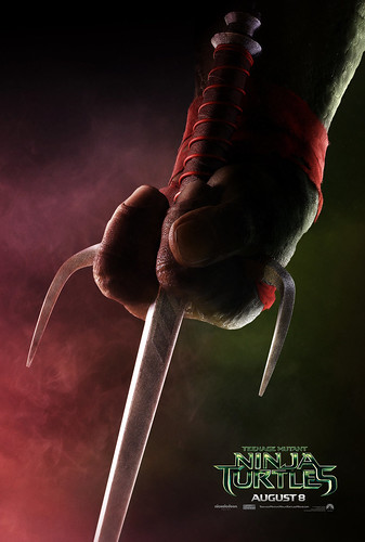 "PARAMOUNT :: ""TEENAGE MUTANT NINJA TURTLES"" ; 'RAPHAEL' ..teaser poster  (( 2014 ))  [[ Courtesy of PARAMOUNT ]]"